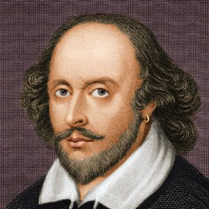 William Shakespeare, famous English poet and playwright