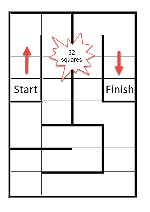 32-Square Game Board