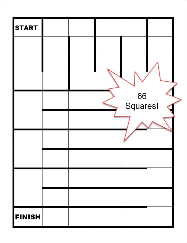 66-square game board template