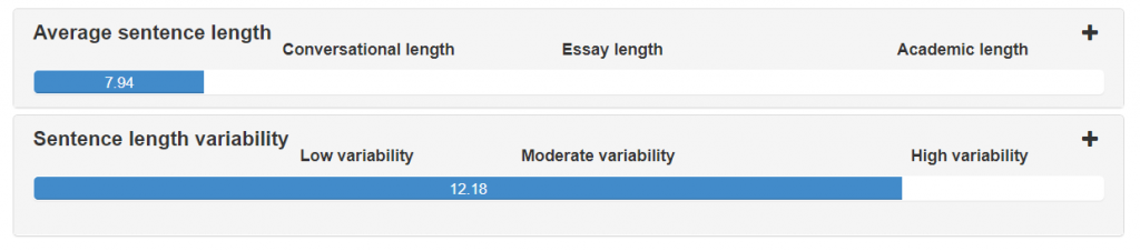 High sentence length variability