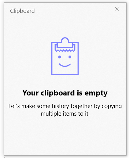 Multi-clipboard is empty