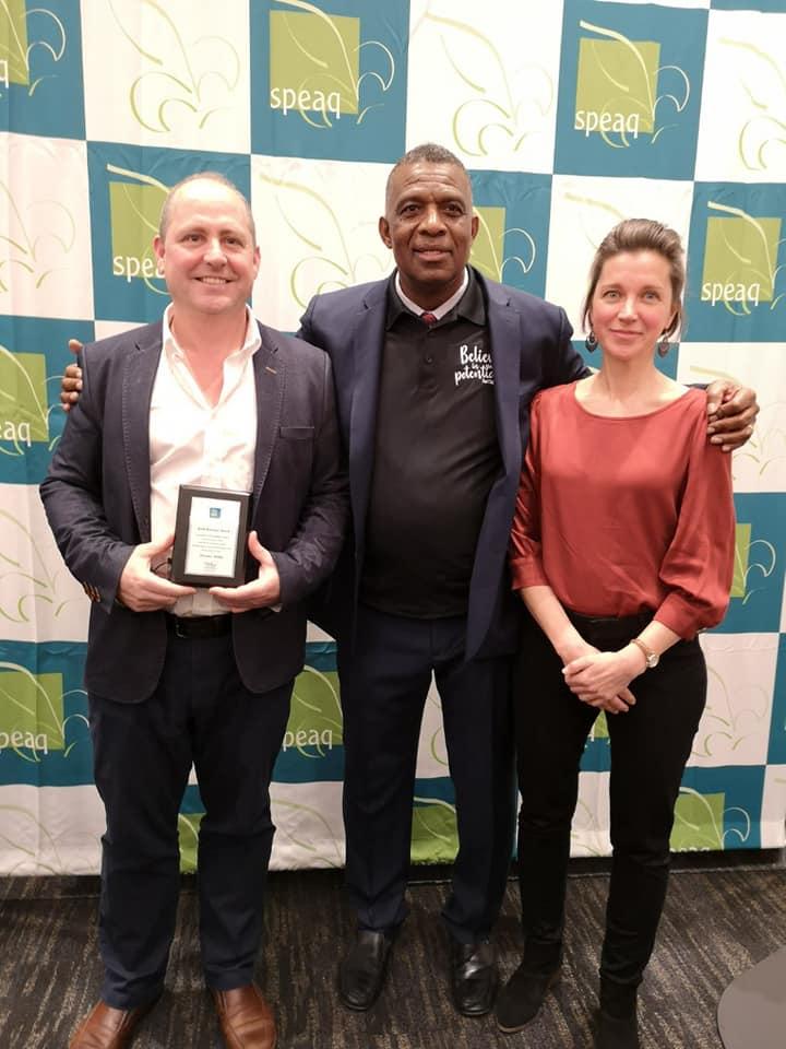Nicholas Walker (me), M. Karl Subban, and Helen Hefter at SPEAQ 2019